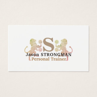 Simple minimal strong lion animal logo cover business card