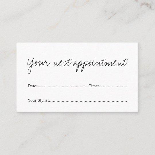 Simple minimal white beauty salon appointment card zazzle simple minimal white beauty salon appointment card altavistaventures Choice Image