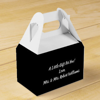 Simple Minimalist Black and White Wedding Favour Box
