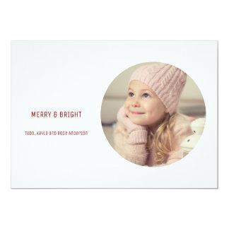 Simple Minimalist Modern Holiday Photo Greeting Card
