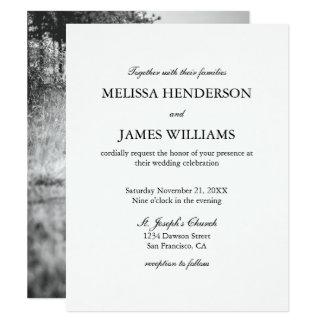 Simple Minimalist Photo Wedding Card