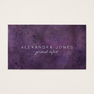 Simple minimalist watercolor purple plum business card