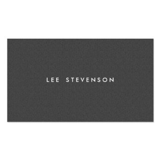 Simple Minimalistic Solid Charcoal Gray Wool Look Pack Of Standard Business Cards