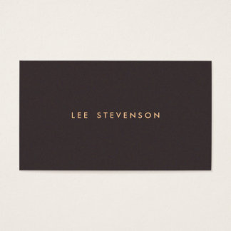 Simple Minimalistic Solid Dark Brown Suede Look Business Card
