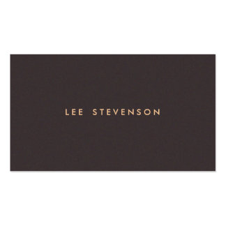 Simple Minimalistic Solid Dark Brown Suede Look Pack Of Standard Business Cards