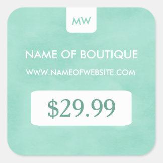 Simple Mint Chic Boutique Monogram Price Tags