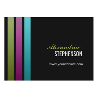 Simple Modern 3 Vertical Stripes Chubby Pack Of Chubby Business Cards