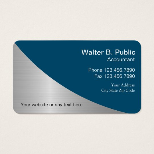 Simple Modern Accountant Business Cards