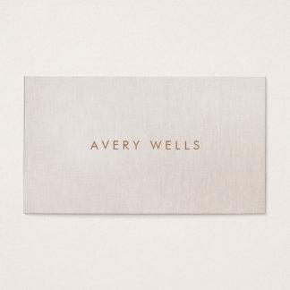 Simple Modern Beige Minimalist Professional Business Card