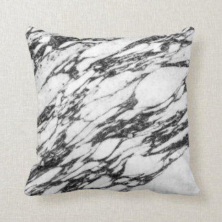 Simple Modern Black and White Marble Stone Cushion