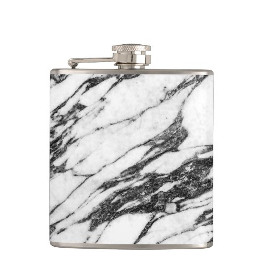 Simple Modern Black and White Marble Stone Hip