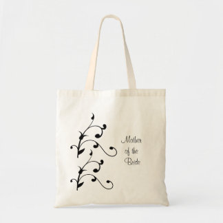 Simple modern Black White Vine Mother of the Bride Bags