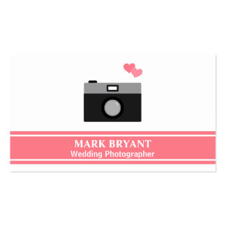 Simple, Modern, Camera, Wedding Photographer Pack Of Standard Business Cards