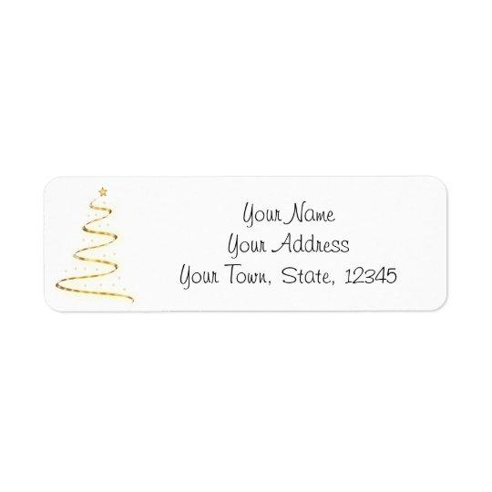Simple Modern Christmas Tree Return Address Labels