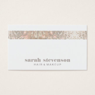 Simple Modern FAUX Sequins Beauty and Fashion Business Card