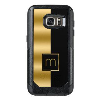 Simple Modern Gold & Black Geometric Design OtterBox Samsung Galaxy S7 Case
