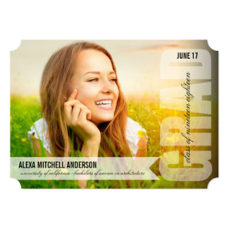 Simple Modern GRAD Overlay Graduation Announcement