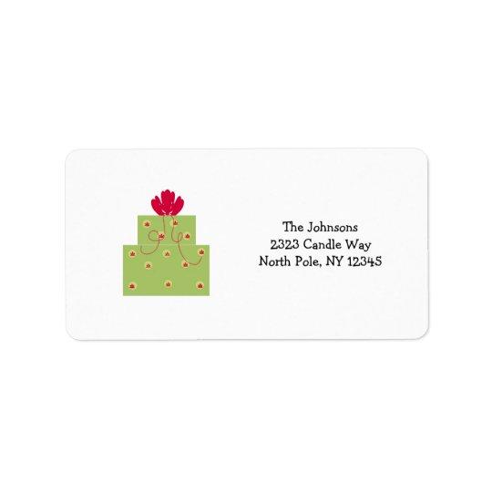Simple Modern Green Present Address Label