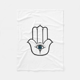 Simple Modern Hamsa Hand of Fatima Fleece Blanket