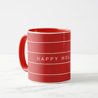 Simple Modern Happy Holidays Mug