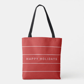 Simple Modern Happy Holidays Tote Bag