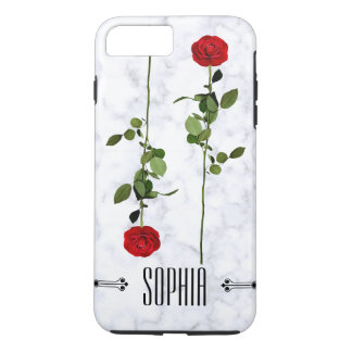 Simple Modern Marble Roses Custom Electronics Case