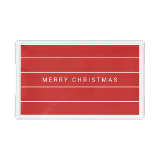 Simple Modern Merry Christmas Acrylic Tray