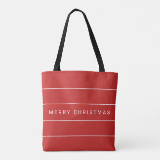 Simple Modern Merry Christmas Tote Bag