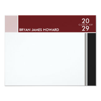 Simple Modern Mondrian Graduation Grad Thank You Invitations