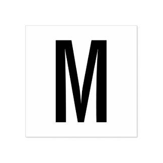 Simple Modern Monogram Rubber Stamp