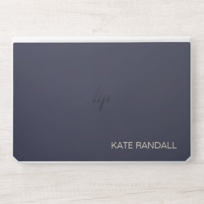 Simple Modern Navy Blue Professional HP Laptop Skin