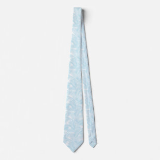 Simple modern pastel blue tropical palm tree tie