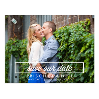Simple Modern Photo Save the Date Postcard