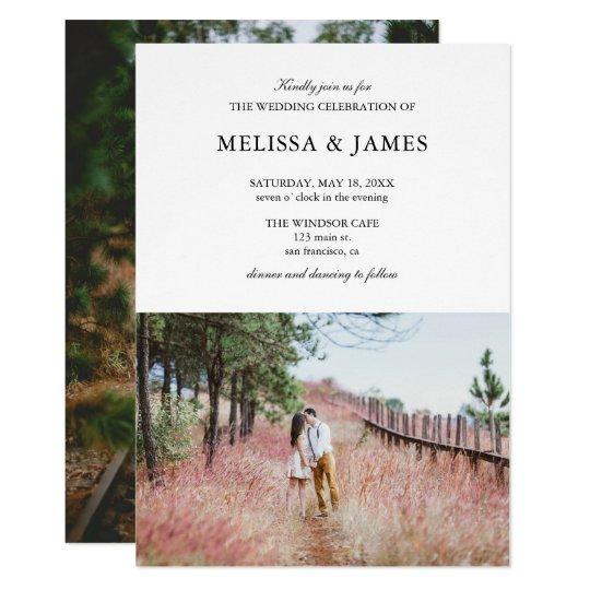 Simple Modern Photo Wedding Invitation