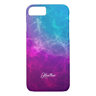 Simple Modern Purple & Blue Polygonal Background iPhone 8/7 Case