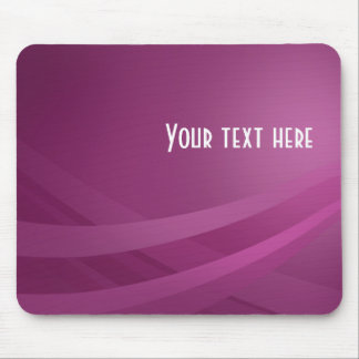 Simple Modern Purple Lilac Wave - Mousepad