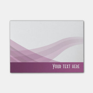 Simple Modern Purple Lilac Wave - Post-it® Notes