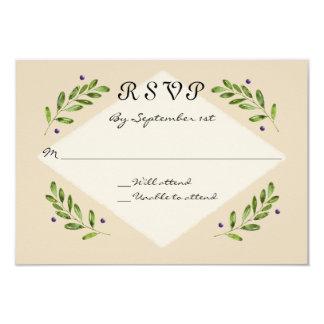 Simple Modern RSVP Response Reply Wedding Card