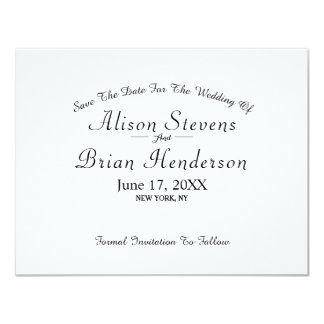 Simple Modern Save The Date Card
