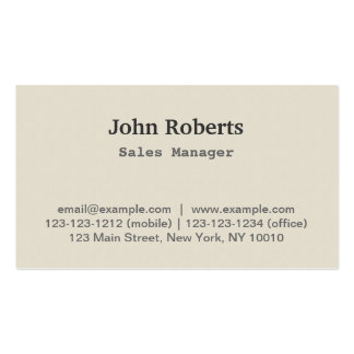 Simple Modern Style Business Card Sales Manager