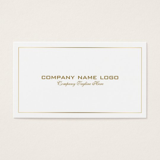 Simple Modern Tin Gold Border On White Business