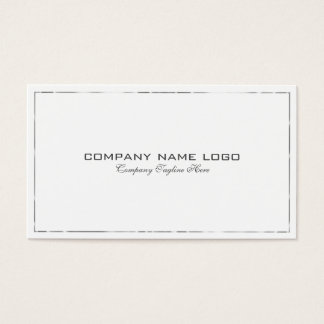 Simple Modern Tin Silver Bored On White Business Card