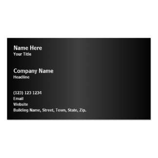 Simple Monochrome Design Pack Of Standard Business Cards