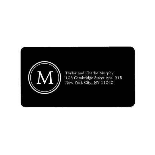Simple Monogram Address Labels - Customisable Colo