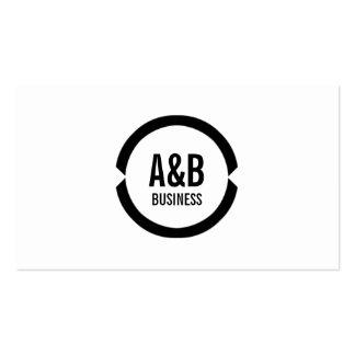 Simple Monogram Apps developer Business Card