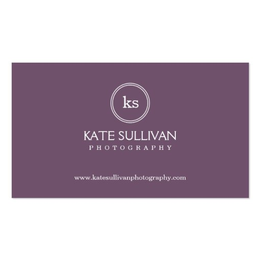 Simple Monogram Business Card Business Card Templates