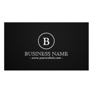 Simple Monogram Chiropractor Business Card