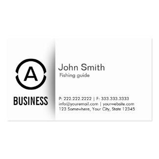 Simple Monogram Fishing Guide Business Card