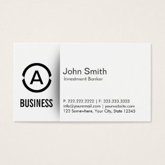 Simple Monogram Investment Banker Business Card