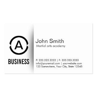 Simple Monogram Martial Arts Business Card